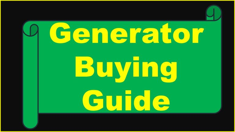 Generator buying guide