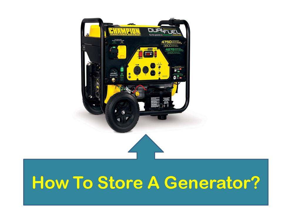 how to store generator